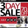 SM Calamba 3 Day Sale - July 29, 30, 31 2011